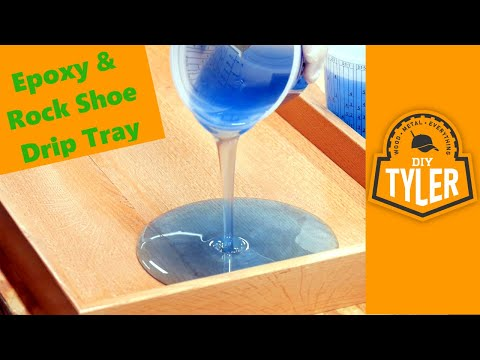 DIY Rock, Epoxy Drip Tray | NEVER see Shoe Puddles again!