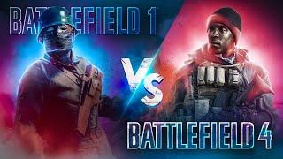 Battlefield 1 против Battlefield 4 в 2018