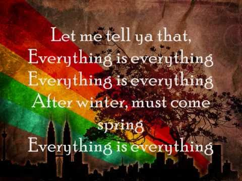 Everything is Everything- Lauryn Hill lyrics