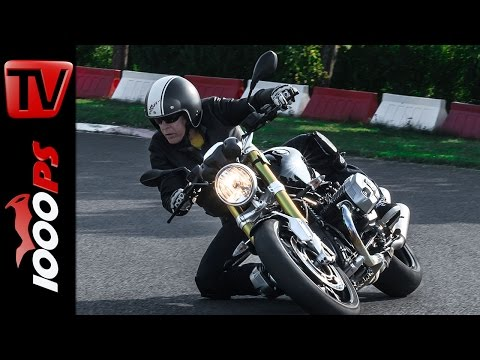 BMW R nineT Test | Action, Knieschleifen