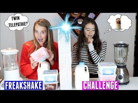 TWIN TELEPATHY FREAKSHAKE CHALLENGE! | DIY FREAKSHAKE