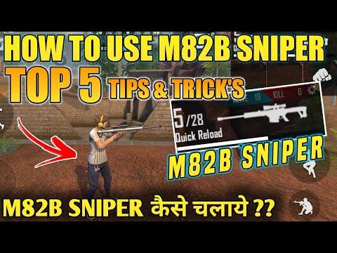 M82B SNIPER - TOP 5 BEST TIPS AND TRICKS - #JONTYGAMING - GARENA FREEFIRE BATTLEGROUND