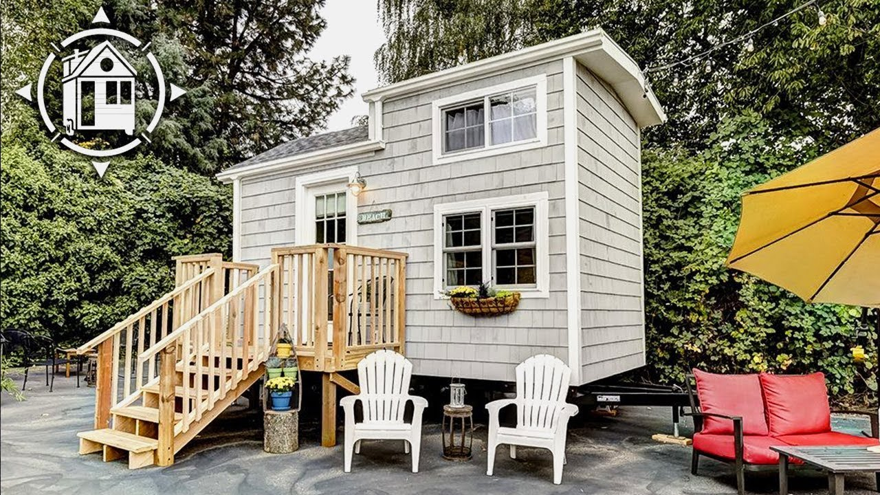 Tiny Beach House On Wheels Is Bright Functional And Available For