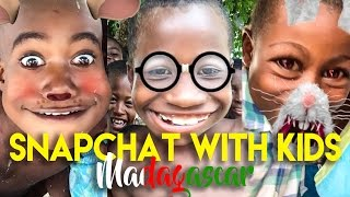 AFRICAN KIDS REACT TO FUNNY SNAPCHAT FILTERS