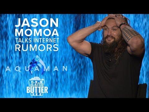 Jason Momoa talks internet rumors | 'Aquaman' Interview | Extra Butter