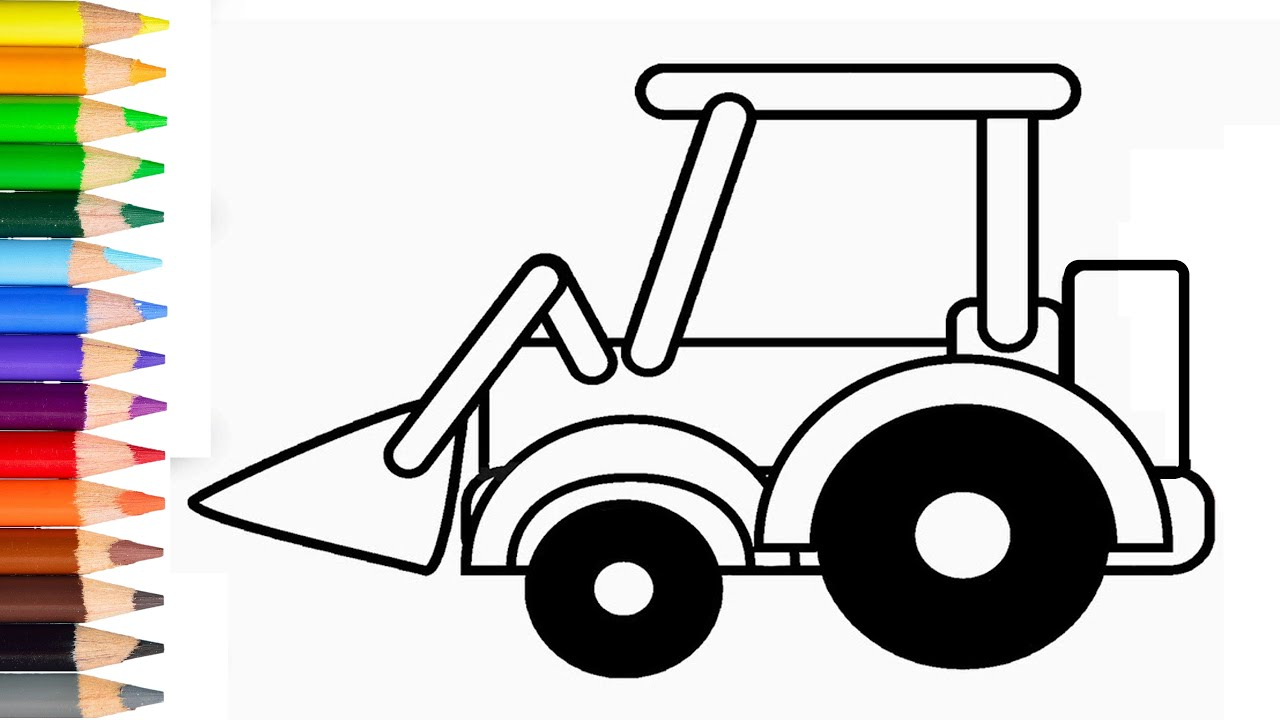 How To Draw Excavator Step By Step Learn Drawing Excavator For Kids