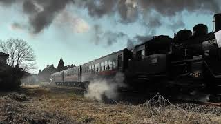 真岡鉄道SL新年号 2018