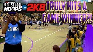 High School Hoops 2K8 - MyCareer - Truly Hits A Game Winner?! -#1 Ranked SG Vs #1 Ranked PF! -