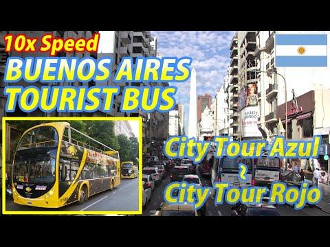 10x BUENOS AIRES TOURIST BUS (City Tour Azul → City Tour Rojo), Argentina