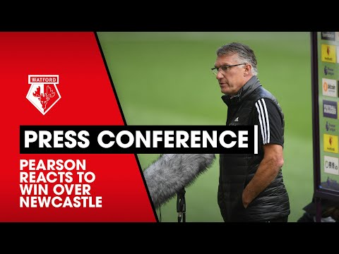 PEARSON ON HUGE WIN AGAINST NEWCASTLE   PRESS CONFERENCE