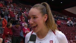 Alanna Smith describes how No. 11 Stanford women's basketball 'played with grit' to topple No. 3...