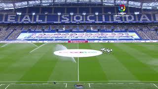 Calentamiento Real Sociedad vs RCD Espanyol de Barcelona