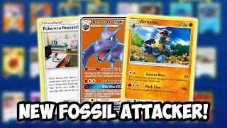 NEW Fossil Attacker, Armaldo! New Best Fossil Deck? Cosmic Eclipse PTCGO