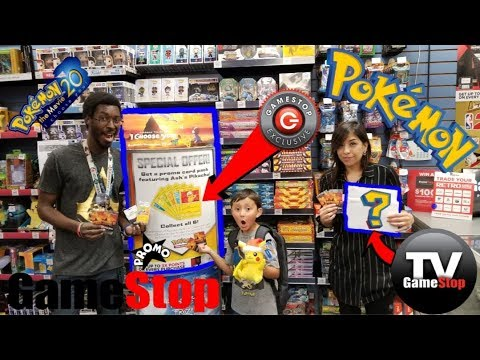 WE'RE GOING TO BE ON GAMESTOP TV!!! OMG!! FREE POKEMON CARDS WHILE SHOPPING AND HUNTING AT GAMESTOP!