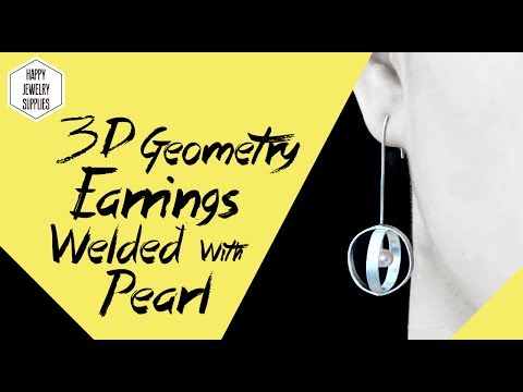 DIY Tutorial - How to make 3D Geometry Globular 925 Sterling Silver Earrings With Pearl