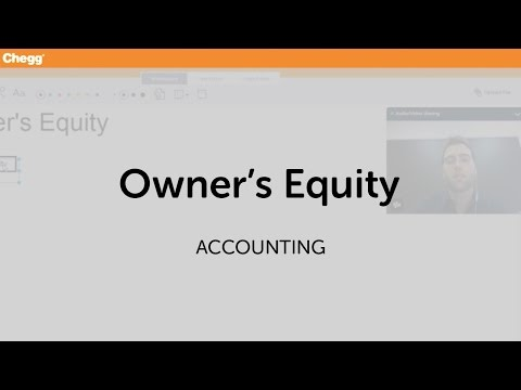 Owner's Equity | Accounting | Chegg Tutors