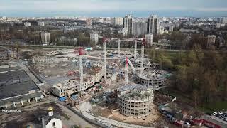 Аэросъемка ЖК «Приморский квартал» от 15 мая 2018 года