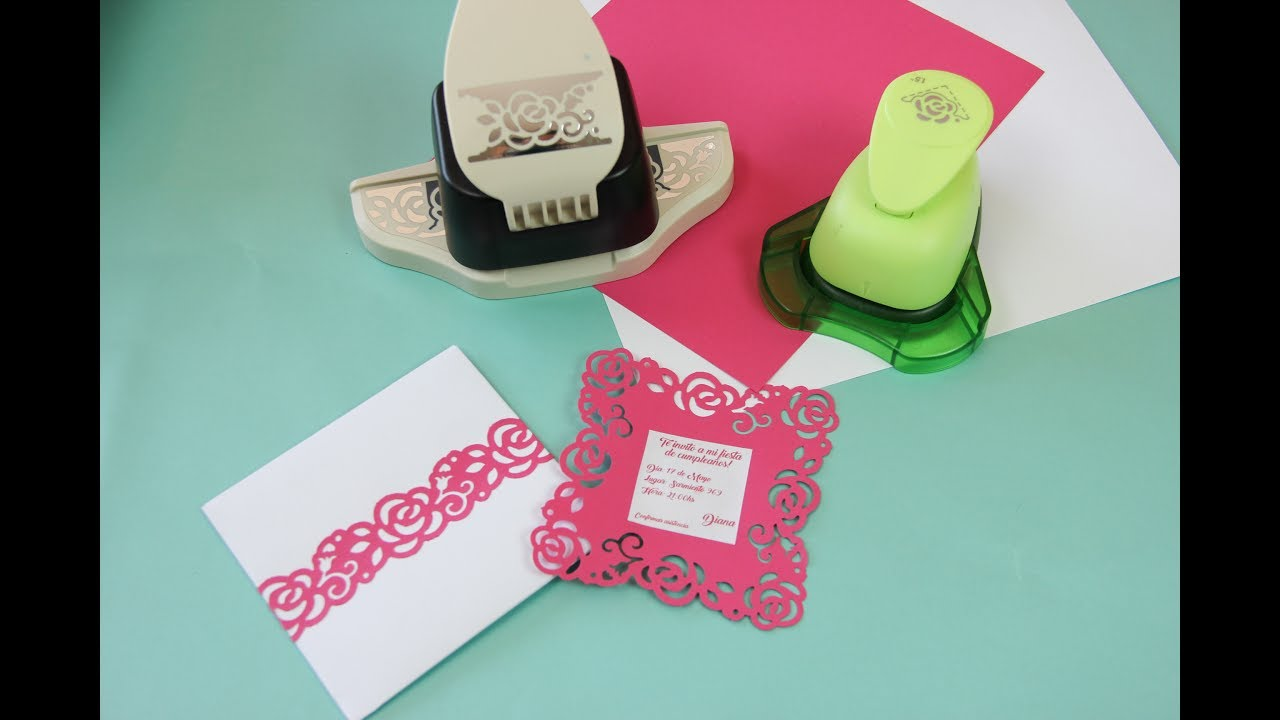 Como Decorar Sobres Y Tarjetas Troqueladoras Border Y Craft Punch New Plenty