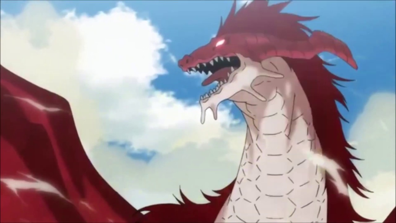 Anime Girl Growth woman dragon transformation and muscle growth