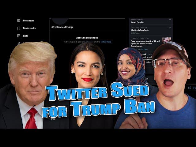 Twitter & AOC Sued for Banning Trump #FreeSpeech