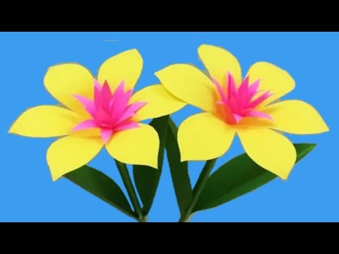 #flower #zerodiy How to Make Beautiful Flower with Paper  - zero Diy | Part 3