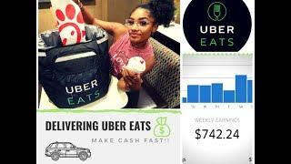 How I make $750+ A week driving Uber Eats!!🤑💵