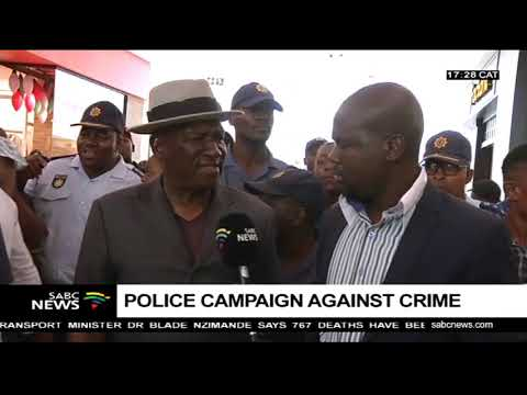 Minister Bheki Cele on a walkabout at Mall of the North, Polokwane