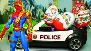 Игрушки человек Паук и похитители киндеров - мультик с игрушками на русском языке!