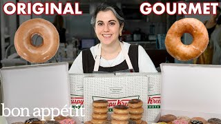 Pastry Chef Attempts to Make Gourmet Krispy Kreme Doughnuts | Gourmet Makes | Bon Apptit