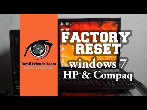 Windows 7 Factory Reset, Restore HP and Compaq Reinstaling settings tutorial