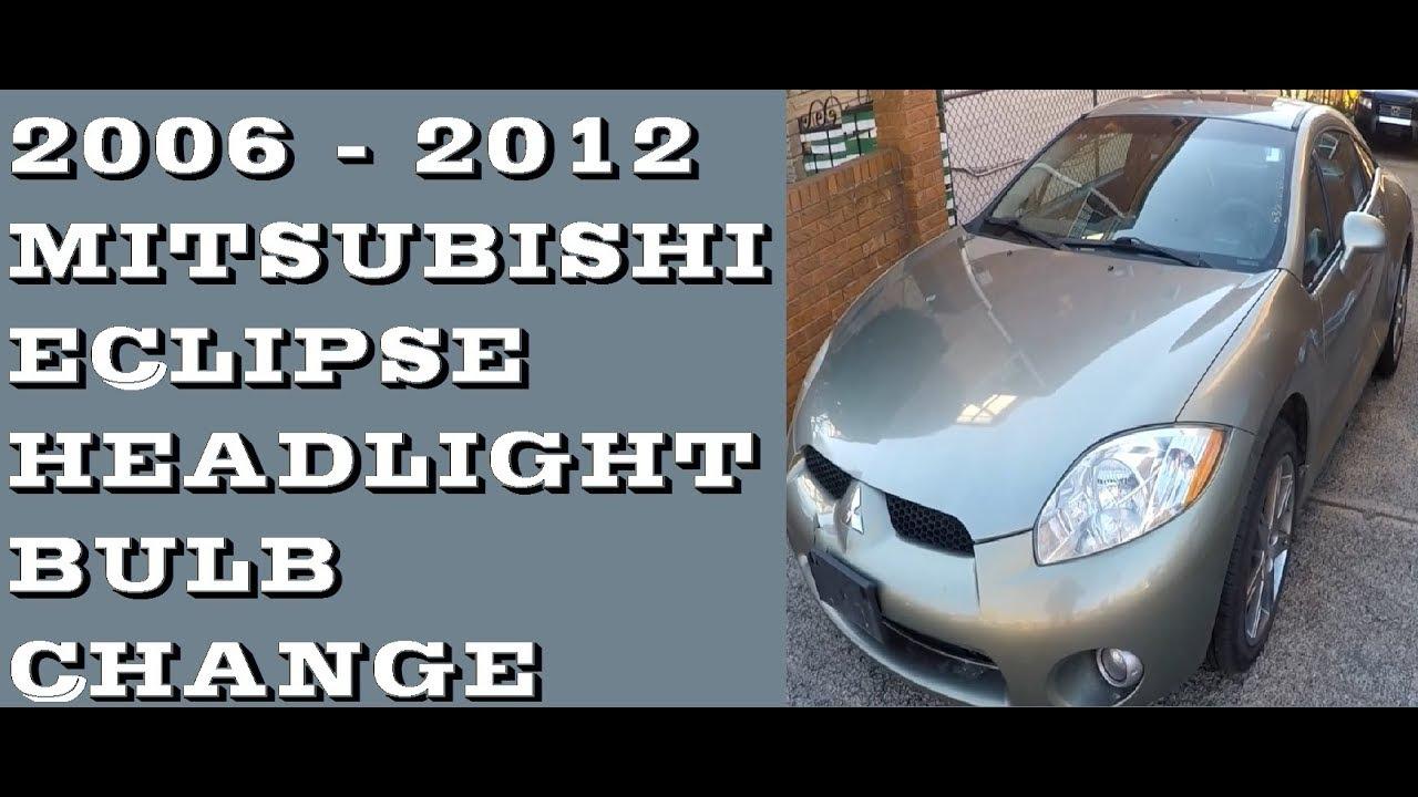 how to replace headlight bulb mitsubishi eclipse 2006 2012 [ 1280 x 720 Pixel ]