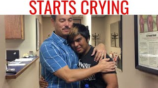 Watch this FREAKING MIRACLE! Chiropractic adjustment he can TASTE AGAIN!
