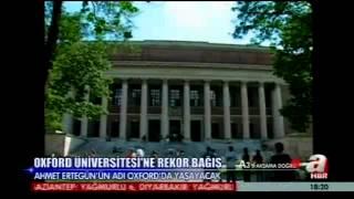 Ahmet Ertegün'ün adı Oxford'da yaşayacak