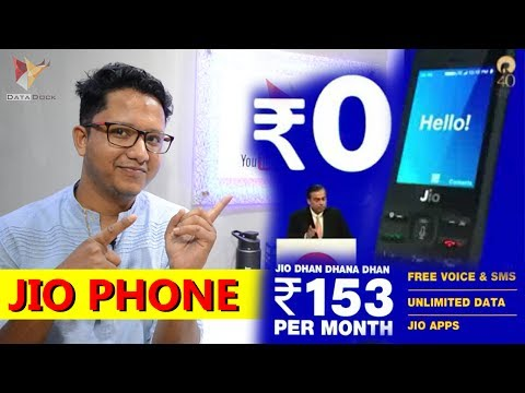 Jio Phone Launched at Rs.0 | Availability,Monthly Plans | Voice Asst,NFC Pay,Screen Share Lots More