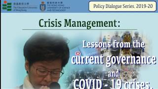 Policy Dialogue Series 2019/20: Crisis Management 28 March 2020