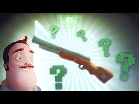 POSSIBLE SECRET ENDING? and SHOOTING THE NEIGHBOR! (Hello Neighbor / Hello Neighbour Gameplay)