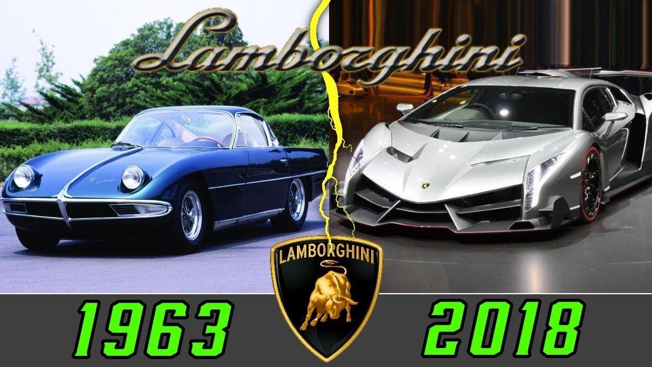 Evolucion De Lamborghini 1963 2018 Youtube