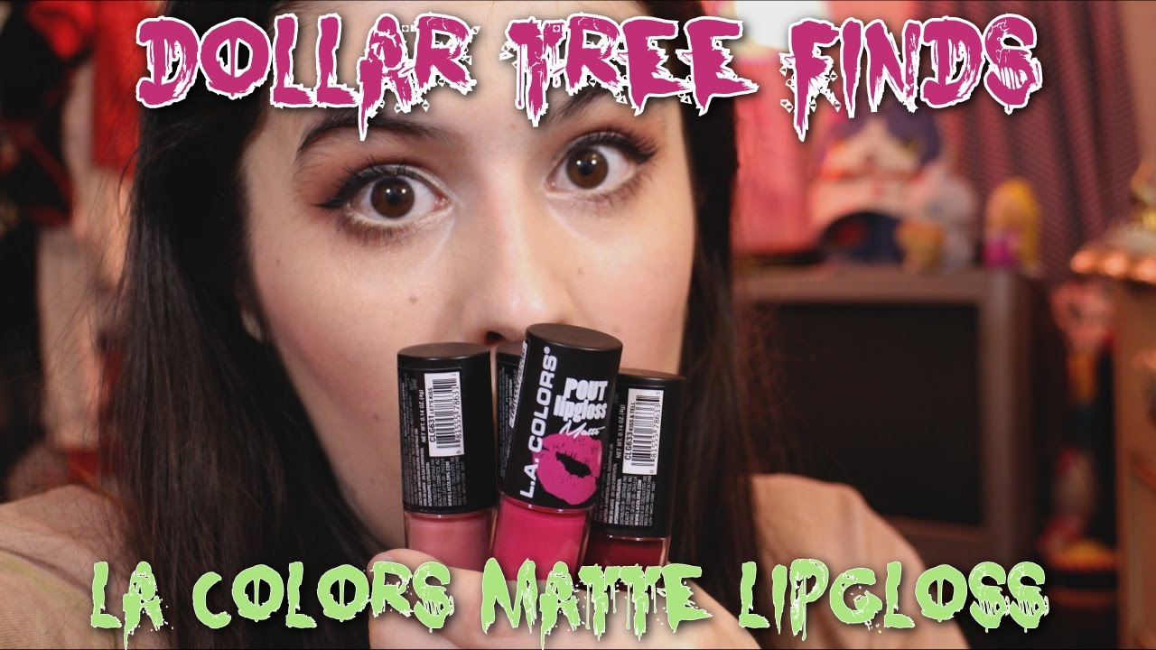 1 Liquid Lipstick Dollar Tree Beauty Finds La Colors Pout Lipgloss Matte