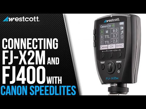 How To Connect The FJ-X2m Trigger And FJ400 Strobe To Canon Speedlites