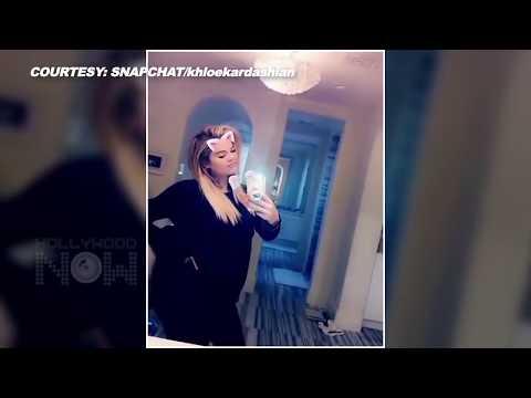 Pregnant Khloe Kardashian Flaunts Baby Bump | Khloe Kardashian Snapchat
