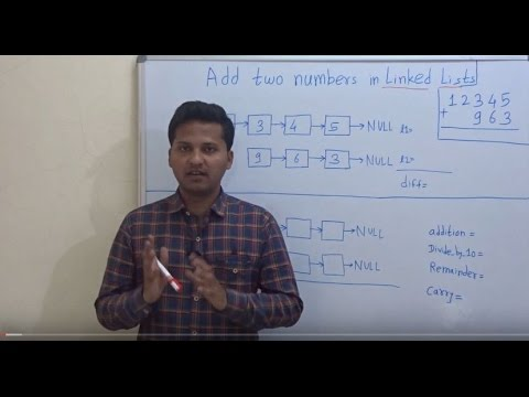 Add two numbers represented by linked lists
