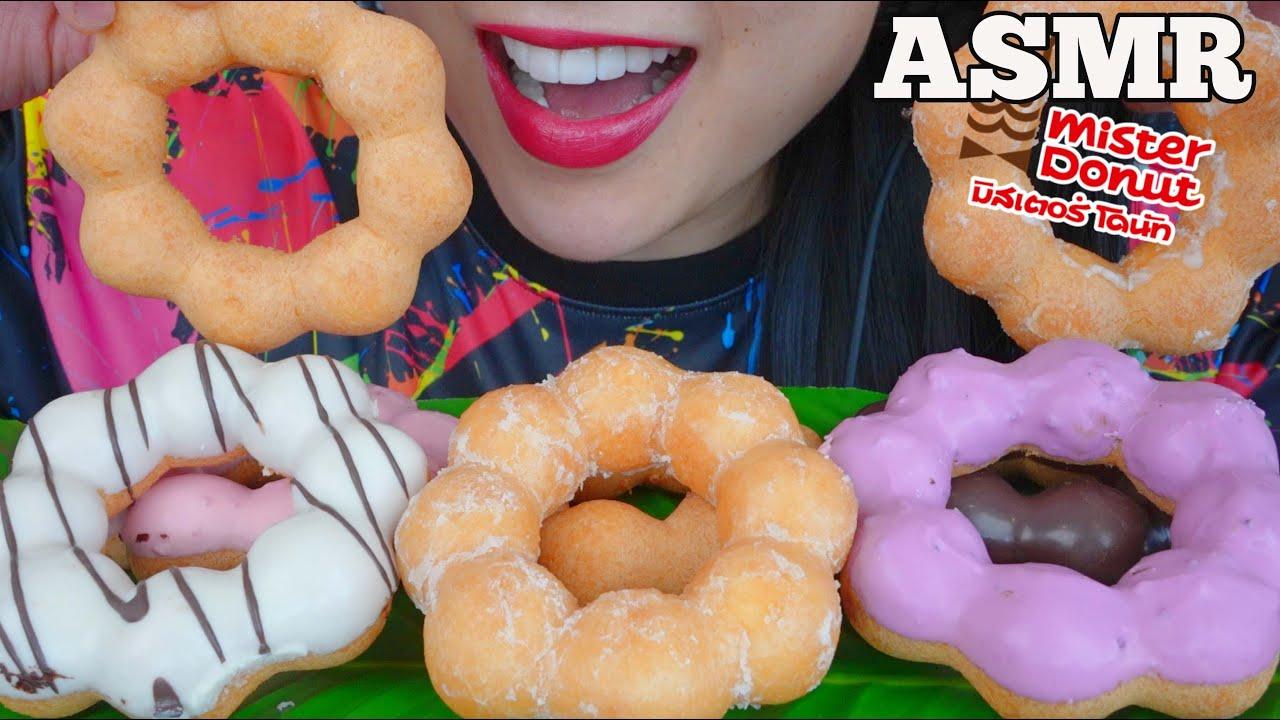 ASMR MOCHI DONUTS (SOFT CHEWY EATING SOUNDS) NO TALKING | SAS-ASMR