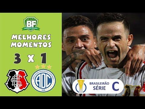 Santa Cruz 3 x 1 Confiança   Brasileirão Série C - 2019   Melhores Momentos   Barrinha Fechada