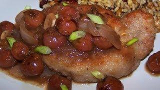 Cherry Mustard Pork Chops