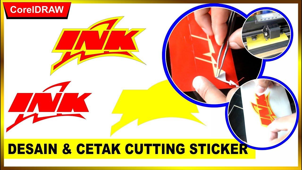 Cara desain cutting sticker dan cetak sticker dengan coreldraw tutorial coreldraw