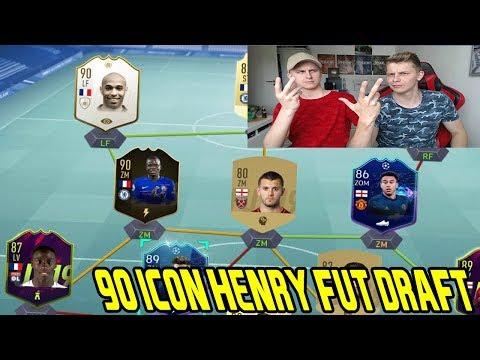 Fifa 19: Mein kleiner BRUDER baut ein geiles 90 ICON HENRY Fut Draft! - Ultimate Team