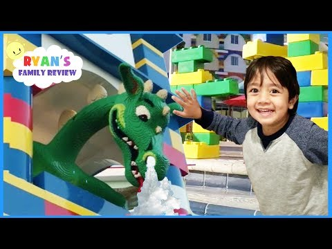 LEGOLAND HOTEL TOUR, Giant Lego Swimming Pool, and Amusement