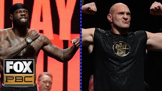Deontay Wilder, Tyson Fury make weight, begin prep for massive title fight | WEIGH-INS | PBC ON FOX