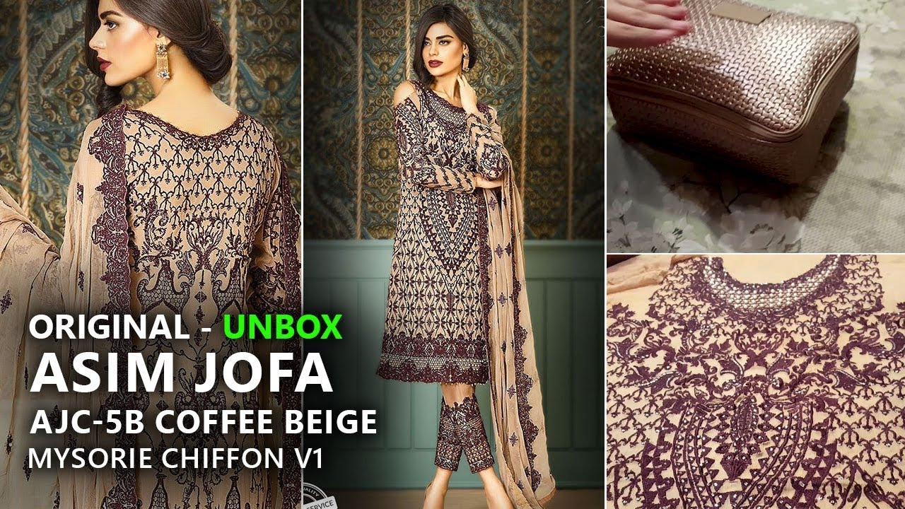 745784aabb Asim Jofa Chiffon Collection 2017 - Unbox AJC 5B Mysorie Limited Edition -  Pakistani Wedding Dresses. Sara Clothes