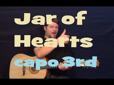 Jar of Hearts (Christina Perri) Guitar Lesson Easy Strum Chords How ...